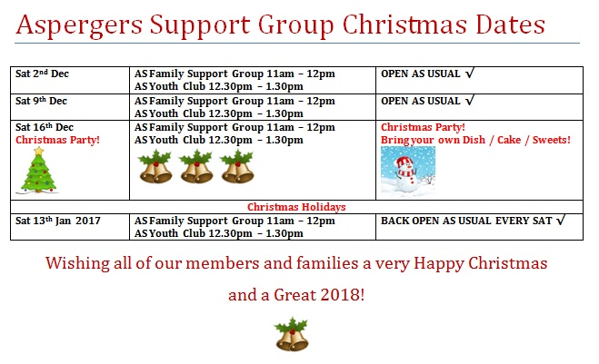 Aspergers Youth Club Christmas Party