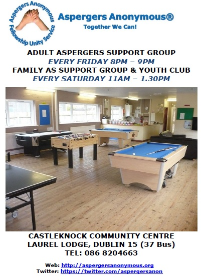 Aspergers Youth Club Support Group Dublin